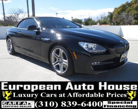 2012 BMW 6 Series for sale at European Auto House in Los Angeles CA