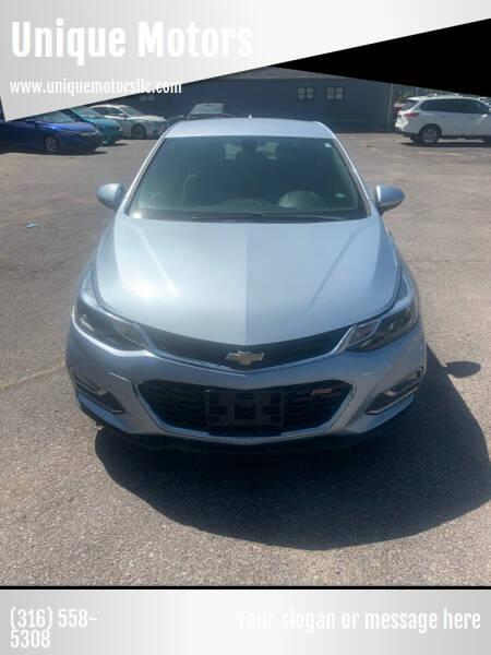 2017 Chevrolet Cruze for sale at Unique Motors in Wichita KS