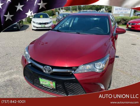 2016 Toyota Camry for sale at Auto Union LLC in Virginia Beach VA