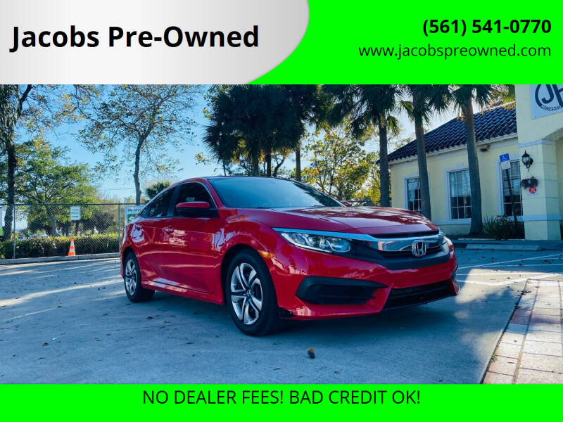 2018 Honda Civic for sale at Jacobs Pre-Owned in Lake Worth FL