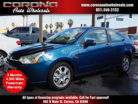 2008 Ford Focus for sale at Corona Auto Wholesale in Corona CA