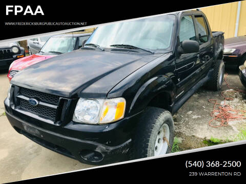 2002 Ford Explorer Sport Trac for sale at FPAA in Fredericksburg VA