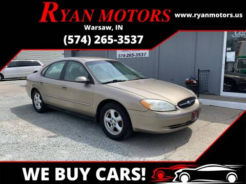 2003 Ford Taurus for sale at Ryan Motors LLC in Warsaw IN