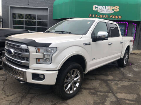 2015 Ford F-150 for sale at Champs Auto Sales in Detroit MI