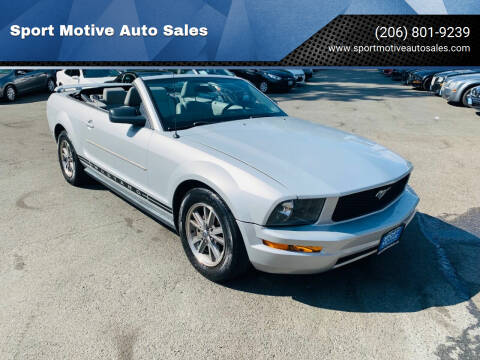 2005 Ford Mustang for sale at Sport Motive Auto Sales in Seattle WA