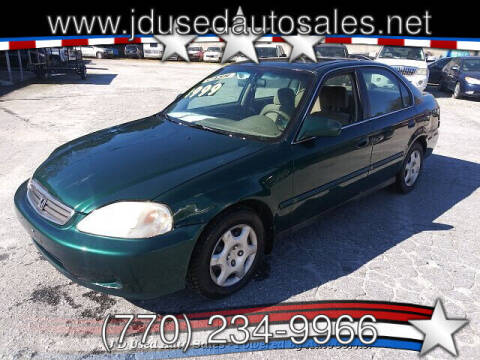 2000 Honda Civic for sale at J D USED AUTO SALES INC in Doraville GA