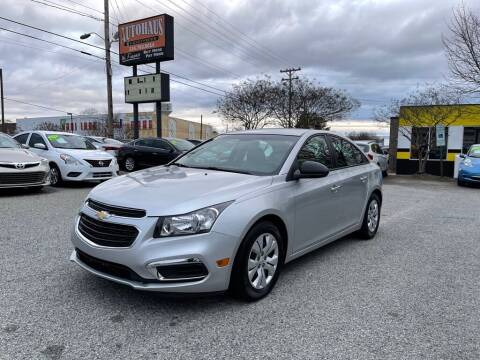 2016 Chevrolet Cruze Limited for sale at Autohaus of Greensboro in Greensboro NC