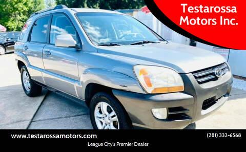 2005 Kia Sportage for sale at Testarossa Motors Inc. in League City TX