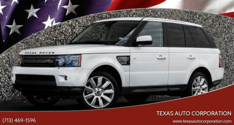 2013 Land Rover Range Rover Sport for sale at Texas Auto Corporation in Houston TX