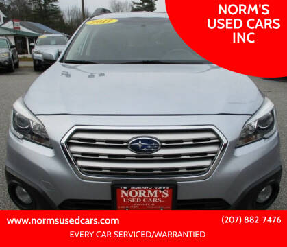 2017 Subaru Outback for sale at NORM'S USED CARS INC in Wiscasset ME