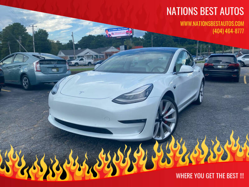 2018 Tesla Model 3 for sale at Nations Best Autos in Decatur GA