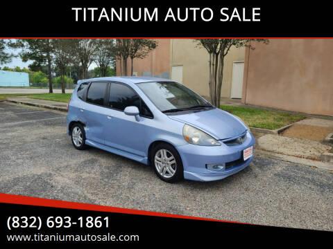 2008 Honda Fit for sale at TITANIUM AUTO SALE in Houston TX