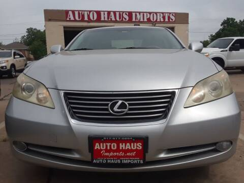 2007 Lexus ES 350 for sale at Auto Haus Imports in Grand Prairie TX