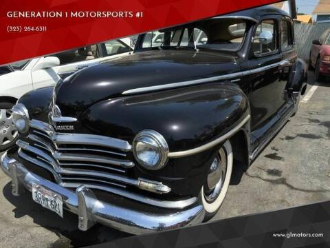 1949 Plymouth Deluxe for sale at GENERATION 1 MOTORSPORTS #1 in Los Angeles CA