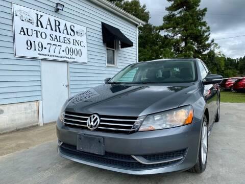 2013 Volkswagen Passat for sale at Karas Auto Sales Inc. in Sanford NC