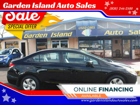 2014 Honda Civic for sale at Garden Island Auto Sales in Lihue HI