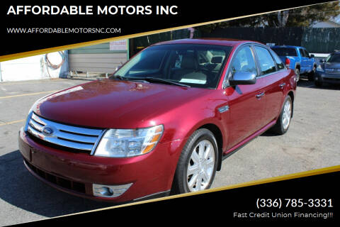 2008 Ford Taurus for sale at AFFORDABLE MOTORS INC in Winston Salem NC