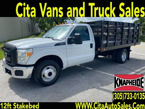 2012 FORD F350 SD DRW 12 FT STAKEBED FLATBED for sale at Cita Auto Sales in Medley FL