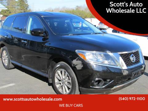 2014 Nissan Pathfinder for sale at Scott's Auto Wholesale LLC in Locust Grove VA
