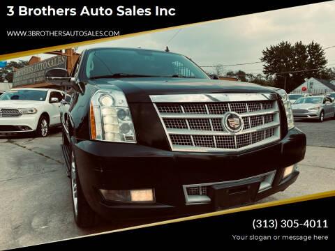 2013 Cadillac Escalade ESV for sale at 3 Brothers Auto Sales Inc in Detroit MI