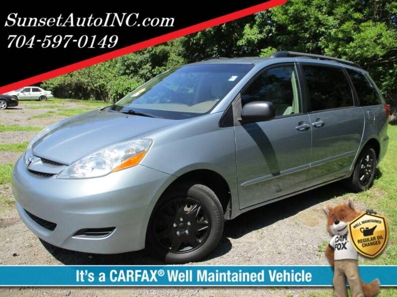 2006 Toyota Sienna for sale at Sunset Auto in Charlotte NC
