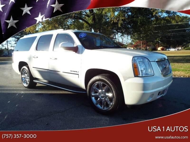2011 GMC Yukon XL for sale at USA 1 Autos in Smithfield VA