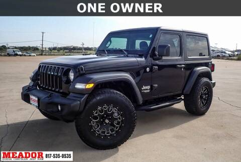 2019 Jeep Wrangler for sale at Meador Dodge Chrysler Jeep RAM in Fort Worth TX