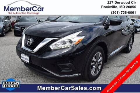 2017 Nissan Murano for sale at MemberCar in Rockville MD