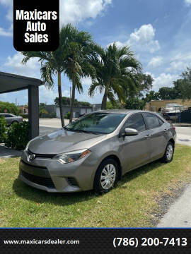 2016 Toyota Corolla for sale at Maxicars Auto Sales in West Park FL