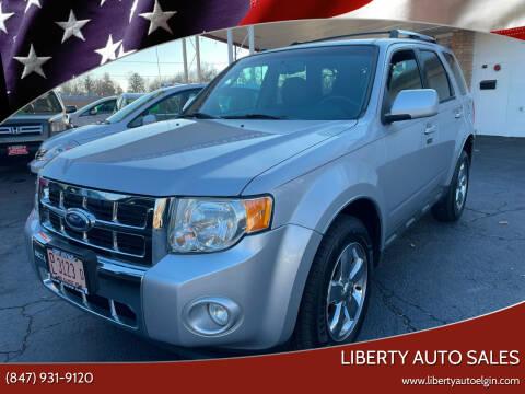 2012 Ford Escape for sale at Liberty Auto Sales in Elgin IL