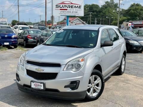 2012 Chevrolet Equinox for sale at Supreme Auto Sales in Chesapeake VA