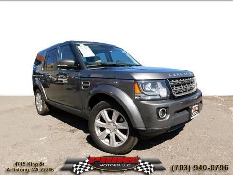 2014 Land Rover LR4 for sale at PRIME MOTORS LLC in Arlington VA