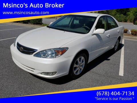 2004 Toyota Camry for sale at Msinco's Auto Broker in Snellville GA