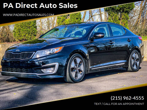 2013 Kia Optima Hybrid for sale at PA Direct Auto Sales in Levittown PA