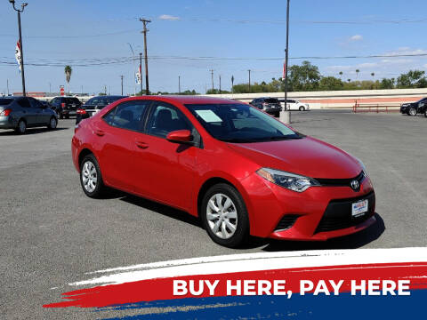2014 Toyota Corolla for sale at Mid Valley Motors in La Feria TX