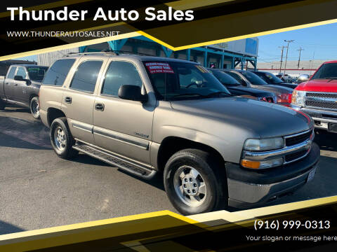 2002 Chevrolet Tahoe for sale at Thunder Auto Sales in Sacramento CA