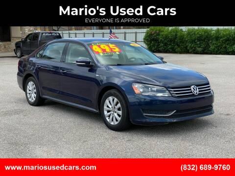 2014 Volkswagen Passat for sale at Mario's Used Cars - Pasadena Location in Pasadena TX