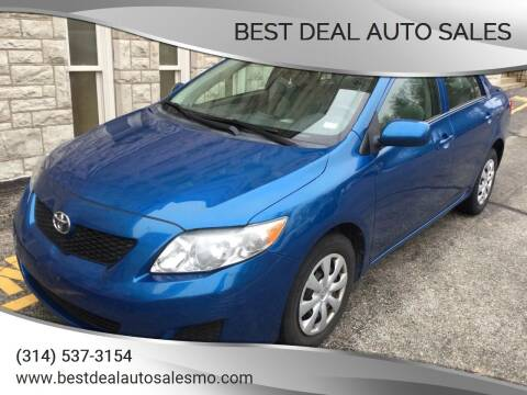 2010 Toyota Corolla for sale at Best Deal Auto Sales in Saint Charles MO