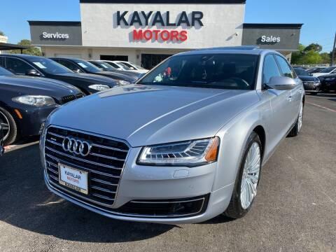 2015 Audi A8 L for sale at KAYALAR MOTORS in Houston TX