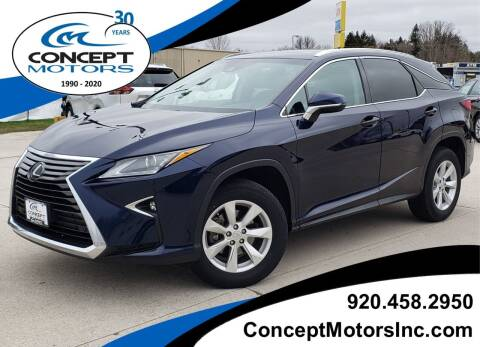 2017 Lexus RX 350 for sale at CONCEPT MOTORS INC in Sheboygan WI
