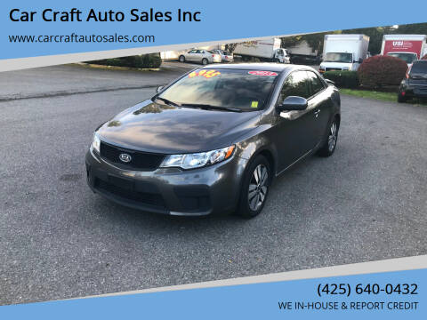 2013 Kia Forte Koup for sale at Car Craft Auto Sales Inc in Lynnwood WA