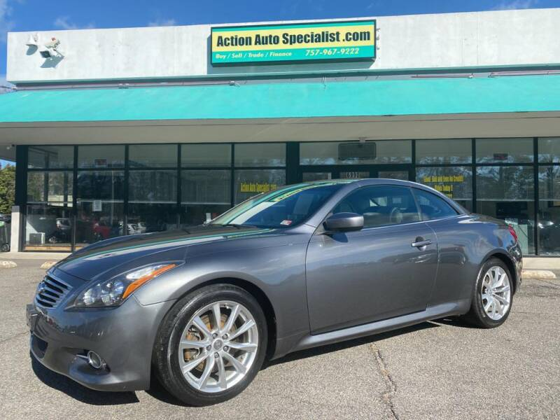 2012 Infiniti G37 Convertible for sale at Action Auto Specialist in Norfolk VA