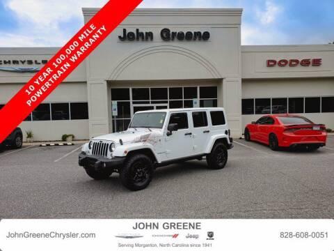 2016 Jeep Wrangler Unlimited for sale at John Greene Chrysler Dodge Jeep Ram in Morganton NC