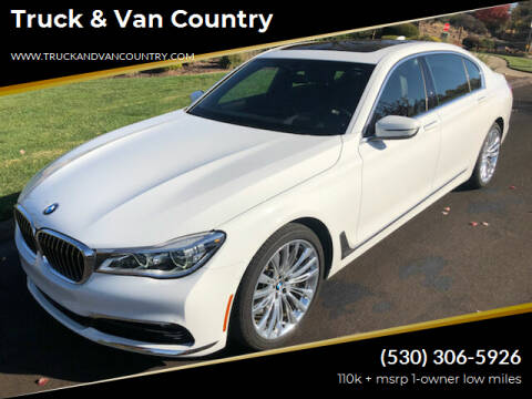 2016 BMW 7 Series for sale at Truck & Van Country in Shingle Springs CA