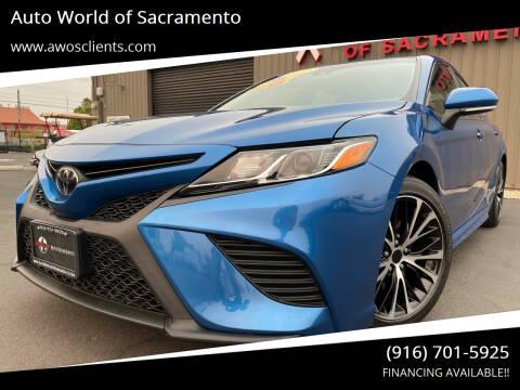 2018 Toyota Camry for sale at Auto World of Sacramento Stockton Blvd in Sacramento CA