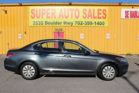 2010 Honda Accord for sale at Super Auto Sales in Las Vegas NV