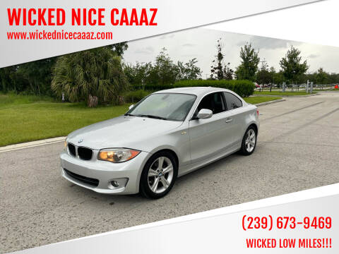 2013 BMW 1 Series for sale at WICKED NICE CAAAZ in Cape Coral FL