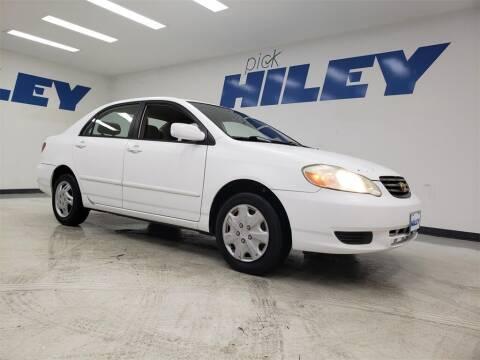 2003 Toyota Corolla for sale at HILEY MAZDA VOLKSWAGEN of ARLINGTON in Arlington TX