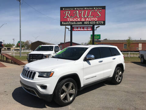 2015 Jeep Grand Cherokee for sale at RAUL'S TRUCK & AUTO SALES, INC in Oklahoma City OK