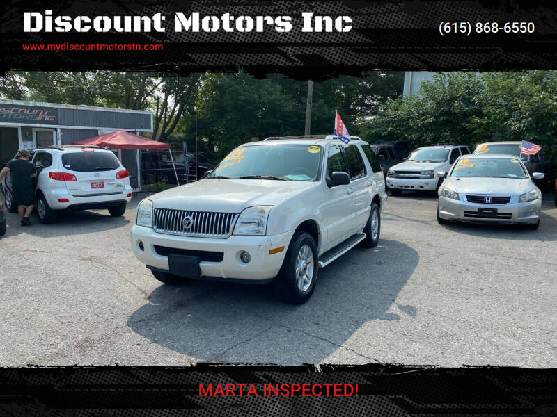 2004 Mercury Mountaineer for sale at Discount Motors Inc in Madison TN